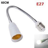 Wholesale New E27 To E27 Flexible cm Extend Base LED Light Adapter Converter Socket For Led globe bulb led desk lamp