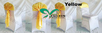 Wholesale Yellow Color Satin Chair Cap Chair Sash Hood For Wedding Chair Cover