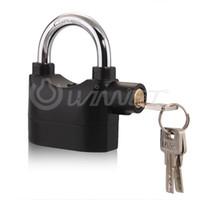 Wholesale Anti theft Padlock Sound Alarm Lock with Keys for Bike Motorcycle Garage
