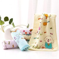 baby supermarket - cotton Towel manufacturers untwisted yarn cotton printed child labor supermarket gift towel face towel