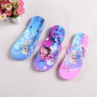 Wholesale 2015 new Frozen Princess Elsa Anna Olaf Children baby s Girls Sandals Princess Elsa Children Flip Flops Shoes Beach Sandals YY