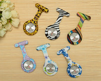 Wholesale Silicone Nurse Pocket Watch Candy Colors Zebra Leopard Prints Soft band brooch Nurse Watch patterns follower airming
