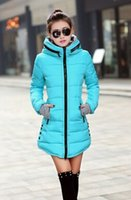 Wholesale Women s cotton padded jacket Hew winter medium long down cotton plus size jacket female slim ladies jackets and coats