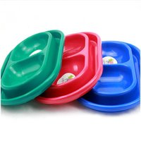 ant border - Hot sale Personalised PP Plastic Cat Dog Puppy Kitten double border ant resistant double bowl small dog bowls
