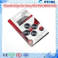 Cheap Top Quality 500 Sets Universal Silicone Thumb Stick Grip Cap Cover for Sony PS4 PS3 XBOX ONE Controller 1Set=4pcs Free Shipping!