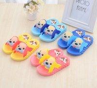 Wholesale Summer plastic children slippers at home Boys girls antiskid cool summer slippers Plastic cartoon slippers