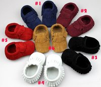 autumn scrubs - 2016 New Suede Leather Baby Moccasins Soft Scrub Walkers Children Babies Boys Girls Scrub First Walker Shoes Toddle Shoes Kids Prewalker