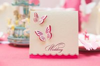 Wholesale Sweet day butterfly Ou invitation wedding personality invitations High end custom invitations wedding Invitations ideas