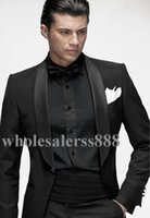 Wholesale 2015 New Custom Design Side Slit Groom Tuxedos shawl laple Groomsmen Men Wedding Suits Jacket Pants Tie Free Shiping