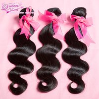 Wholesale Queen love hair products brazilian virgin hair body wave human hair unprocessed hair by DHL