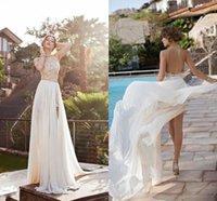 beach items - Hot Item Cheap Wedding Dresses Halter Backless Long Length Sleeveless Appliques Beach Wedding Gown Garden Sexy Wedding Dress Beading