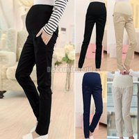 Wholesale 2015 Top Selling Women Pregnancy Maternity Over Bump Pencil Pants Trousers Size S XL Colors Drop Shipping