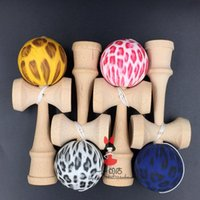 Wholesale Hot style Water transfer colors kinds of handle kendama you can choose Cheetah pattern