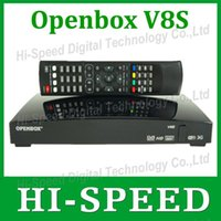 Wholesale Newest Openbox V8S Digital Satellite Receiver SupporYoutube Youporn CCCAMD NEWCAMD S V8 Support WEBTV Biss Key xUSB Slot USB Wifi G