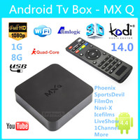 Wholesale Original Online Update MXQ TV BOX Amlogic S805 Quad Core Android Airplay TV Channels Programs Media Player KODI15 Rooted