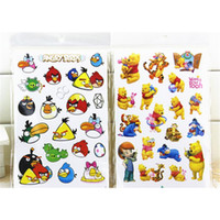 baby bear stickers - 50 Sheets Bird Bear Princess A variety of styles Stickers Christmas Gift Little Girls Baby Cartoon Stickers Kawaii Toys