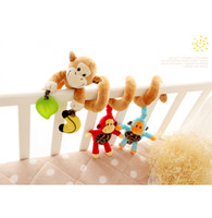 bedside cribs - Baby crib bed trailer to hang around the multi function music educational bedside bell and year old baby toys Banana monkey