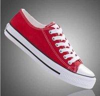 Revisiones Más popular-El envío libre la mayoría de los zapatos de lona clásicos del estilo del lowhigh de los zapatos de lona de 13 colores populares, ata para arriba las zapatillas de deporte de los womenmen, estudiantes ata para arriba los zapatos