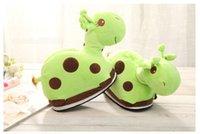 Wholesale 2015 Lovely Giraffe Slippers For Christmas Gift Winter Animal Slippers Plush Home Slippers Soft Indoor Floor Shoes Colors