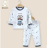 Cheap Wholesale-Children's pure cotton underwear suits baby clothes baby pajamas baby pure cotton clothing spring,summer thin underwear