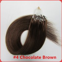 cold fusion hair extensions - s pc s Chocolate Brown A Brazilian Micro Ring Loops Bead Remy Cold Fusion Human Hair Extensions g s