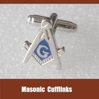Wholesale Custom Masonic fashion cufflinks emblem pairs