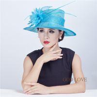 sinamay hat - Wide brim Sinamay Hats Fascinators colors Fuchsia Ivory Blue etc Headband Clip SCF9136