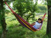 Wholesale single outdoor leisure camping hammock hammock rope bag factory direct send low price
