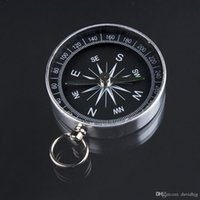 Wholesale Lightweight Aluminum Camping traval Mini Compass Hiking Navigation Hot Worldwide