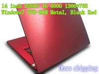 notebook computer - New inch Metal DVD ROM laptop computer Intel D2600 GHZ GB GB WIFI Windows7 laptop notebook Black Red N142