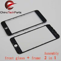 Wholesale Cold press OEM Front Glass lens with frame assembly For iPhone s Plus SPlus Repair Part