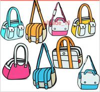 Wholesale 10 TOPB5310 colors unisex backpack Gismo Cartoon Bag fashion D Jump Style D Drawing D Shoulder Messenger Bag camera bag totes