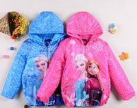 Wholesale 2015 New winter Frozen fever elsa anna down coat girls frozen outwear children clothing