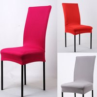 Wholesale Colorful Spandex Chair Covers For Weddings Champagne Chair Sashes Wedding Decorations Outdoor Chair Cushions