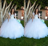 Cheap 2015 White Ruffles Ball Gown Quinceanera Dresses With Jacket Heavy Beaded Corset Top Full length Special Occasion Girls 16 Dresses