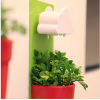 Wholesale New Arrival For Creative Designed Cloud Rainy Pot Wall hung Plant Flower Pot Vase Yard Home Decoration Decor