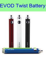 wholesale electronic lots - 30 EVOD twist battery mAh mAh mAh electronic cigarette twist battery ii battery eGo e cigarettes for MT3 CE4 CE5 atomizer