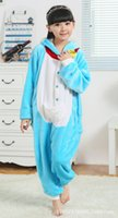 baby boy games - Blue Doraemon Child Kigurumi Boy Girl Pajamas Animal Suit Cosplay Outfit Christmas Costume Kid Cartoon Jumpsuits Baby Animal Sleepwear