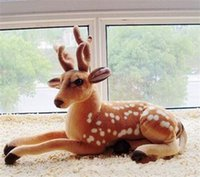 baby simulation - 2015 New Baby Toy Stuffed Artificial Simulation Animal Deer Plush Soft Toy Gift Christmas Decoration