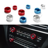 aluminum air conditioning - 3 New Car Styling Air Conditioning Knobs Decorative Circle Trim Aluminum For BMW X1 E84