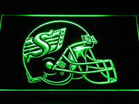 Wholesale b441 Saskatchewan Roughriders Helmet Bar Beer LED Neon Light Sign Wholeseller Dropship colors to choose
