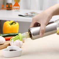sauce bottles - SHENGHUOWU High Quality Glass Oil Control Bottle Cruet Vineger Sauce Bottle