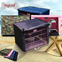 Wholesale Free shiping Doglemi Waterproof Pet Crate Cover for Wire Crate Dog Kennel Cage Cover sizes
