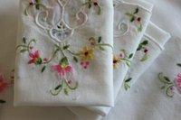 ladies handkerchiefs - New cotton Hand embroidered Flower Cotton Handkerchief For Love gift cm