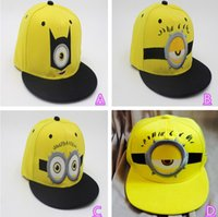 Wholesale Despicable Me3 Minions Adult Unisex Ball Cap Action Figure Fashion Baseball Cap Snapback Hiphop Adjustable Hat Cosplay Cap B252