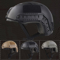 helmets - Durable Emerson Tactical Airsoft Fast Helmet w DE TAN