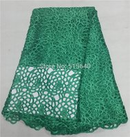 Wholesale y a african cord lace high quality chemical lace water soluble guipure lace fabric price AMY053C B