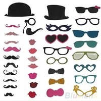 Wholesale New DIY Photo Booth Props Mustache On A Stick Wedding Birthday Christmas Party OV9
