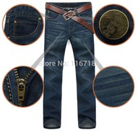 Wholesale 2014 Mens Jeans Men Famous Brand Fashion Denim Straight Jeans Designer Jeans Brand Pants Large Size In Stock N6168