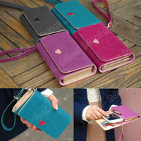 For Apple iPhone Leather Blue New Envelope Card Wallet Leather Purse Case Cover For Samsung Galaxy S2 S3 Iphone 4S 5#18282